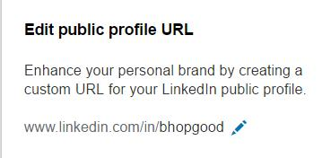 Edit Public Profile URL
